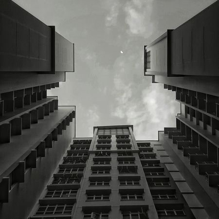 The Architect - 2015 EyeEm Awards Monochrome Sky Moon Cmmaung Cmmaung.me Samsung Galaxy S6 Edge Snapseed Building Black And White