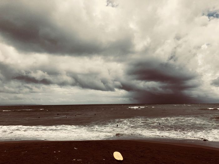 Moment Surf Sea Cloud - Sky Beach Sky Horizon Over Water Nature Storm Cloud Sand Outdoors Scenics No People Beauty In Nature Water