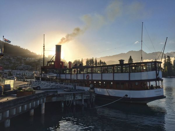 Steam Ship Steam Boat Queenstown Queenstown Newzealand Queenstown Nz Kiwipics Wooden Wakatipu Earnslaw TSSEarnslaw TSS Earnslaw Old Early Morning