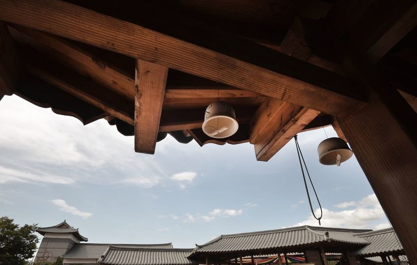 Bell Korea Bell Architecture Built Structure Low Angle View Roof Building Exterior No People Sky