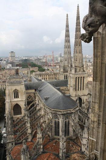 Gargoyle overlooking the city