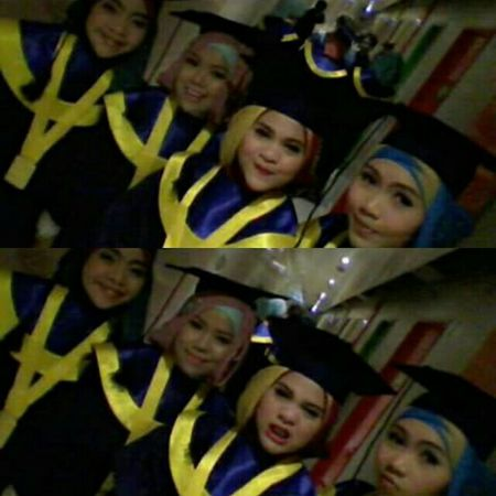 This is not the end girls, the graduation mean the start to live the true life, for a bigger challenge for a bigger responsibilities, love ya! Friends Graduation LP3I Bandung Grandballroom Sudirman