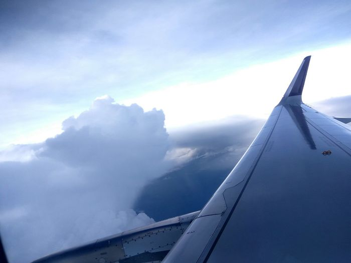 Above the Clouds Airplane Aircraft Wing Window Mid-air Aerial View Cloud - Sky Vistara First Eyeem Photo