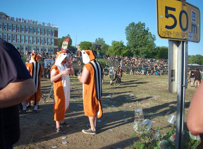 Rockfest City Togetherness Friendship Men Summer Sky Building Exterior