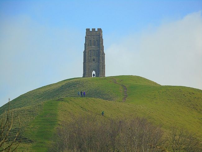 Built Structure Architecture Clear Sky Building Exterior Outdoors Field Nature Day Grass Landscape Green Color Sky Growth Agriculture Scenics Real People Mountain Beauty In Nature Glastonbury Tor Glastonbury Somerset