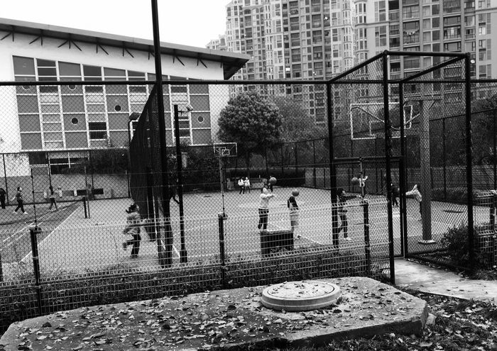 Work Hard Sport School Daily Life Kids Model Volleyball China Girl Working Blackandwhite
