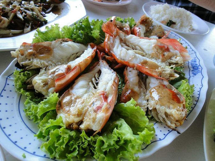 Grill Shrimps Shrimp - Seafood Plate Seafood High Angle View Close-up Food And Drink Starter Octopus Appetizer Boiled Mussel Greek Salad Coriander Tapas Scallop Tentacle Oyster  Crustacean Dish Serving Dish Prepared Food Cooked Mollusk Prawn Steamed  Sashimi