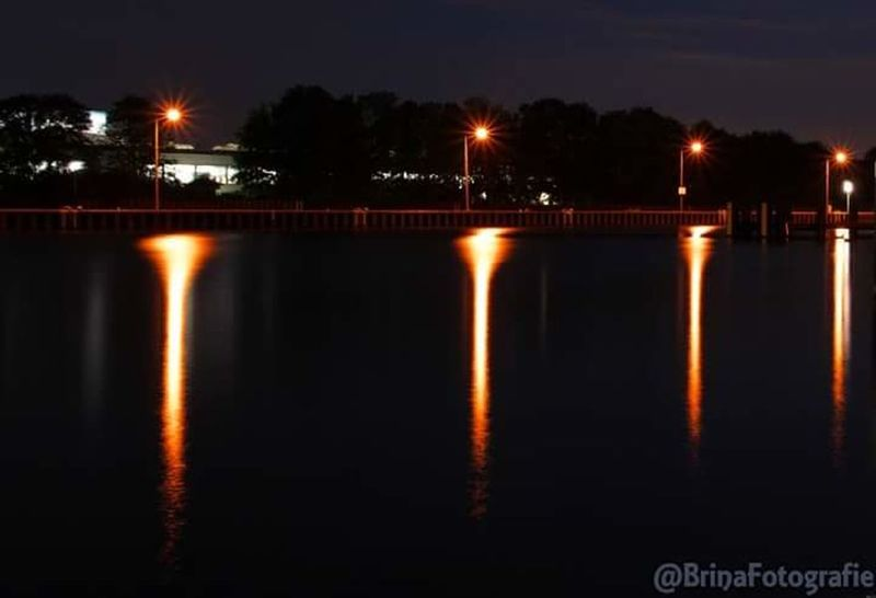 Night Illuminated Reflection Outdoors No People Water Industry Nightphotography Long Exposure Longexposure Lights In The Dark LongTerm Reflection