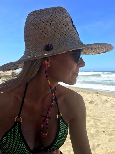 Caribbean Life Caribbean Sea Caribbean Hat Sun Hat Beach Sand One Person Vacations Summer Sea Lifestyles Leisure Activity Water Real People Day Outdoors Shirtless Sunlight Scenics Sky Nature Women