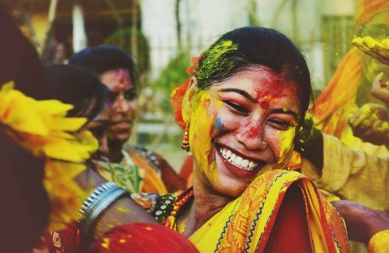 'Colors are the smiles of nature' Basanta Utsav | kolkata Colors Of Carnival Color Portrait Colors Holi Festival Festival Of Colors Beautiful Smile Kolkata India First Eyeem Photo