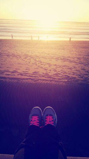 Sunset OceanBeach Running Routine