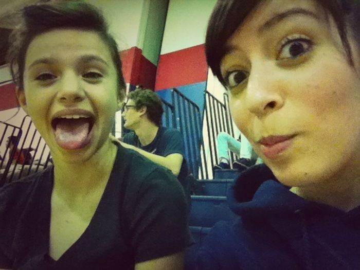 After track practice at senior night for the girls basketball game <3, my niggaaaa jasmine