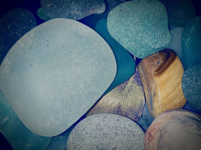 Open Edit Showcase: January Eye4photography  , Surfaces & Textures Colors Nature Rows Of Things .......... ♥ Beach Glass