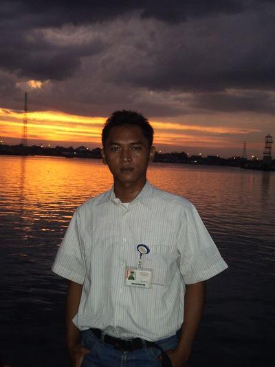 My old photo Sunset Lake Ogan Permata Indah Palembang-Indonesia