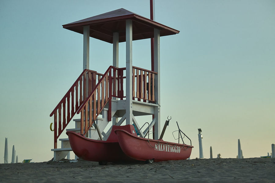 Bathhouse Beach Building Exterior Built Structure Clear Sky Day Hut Land Lifeboat Station Mode Of Transportation Nature Nautical Vessel No People Outdoors Safety Sea Security Sky Sunset Transportation Water