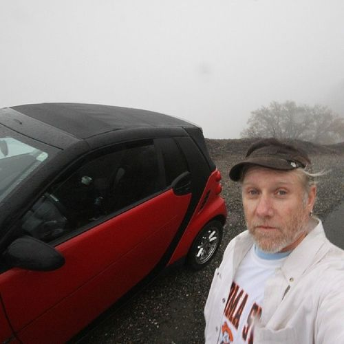 Rain don't scare me... I never saw another person or car on the mountain that day. MtDiablo November RainyDay Selfie