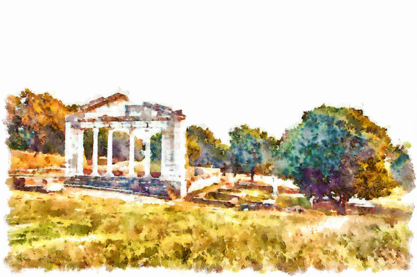 Remains of the Roman temple at the Apollonia archaeological park Architecture Building Exterior Built Structure No People Outdoors