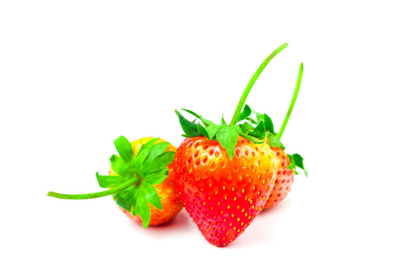 Strawberry (Fragaria x ananassa Duchesne) are fresh red fruit. rich in vitamins have a taste sour and sweet on isolated white background and clipping path Strawberry Isolated Food And Drink White Background Fruit Healthy Eating Freshness Organic Closeup Raw Food Ripe Juicy Berry Diet Delicious Tasty Clipping Path Strawberries Agriculture Fragaria X Ananassa Duchesne Ex Weston Berry Fruit Food Indoors  Studio Shot