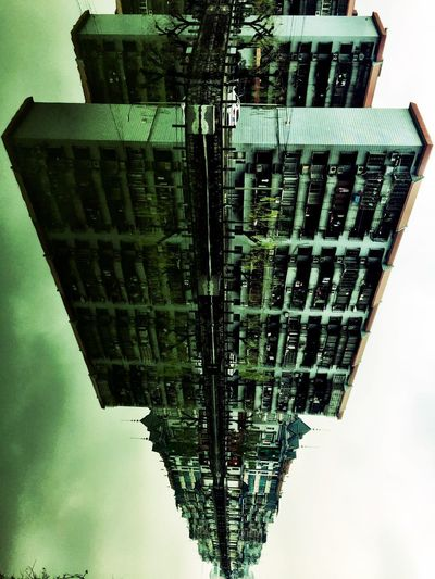Spaceship Water Reflections 90° China Building SpaceShip Architecture Built Structure Building Exterior Low Angle View Outdoors No People Day Colour Your Horizn