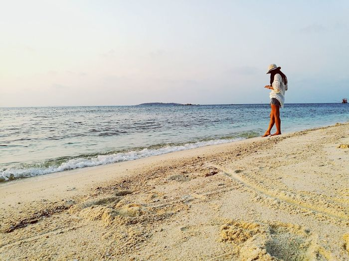 Long Goodbye One Woman Only Beach Only Women One Person Sand Sea Adult Full Length Horizon Over Water Travel Destinations Women Outdoors People Nature Coastline Beauty In Nature Wave Alone Time Standing Thailand Asian  Sky Sunrise