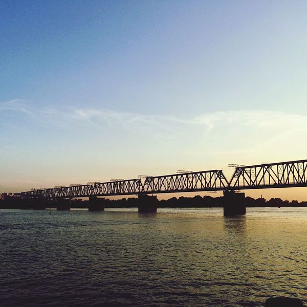 Beautiful Bridge Russia Novosibirsk Evening