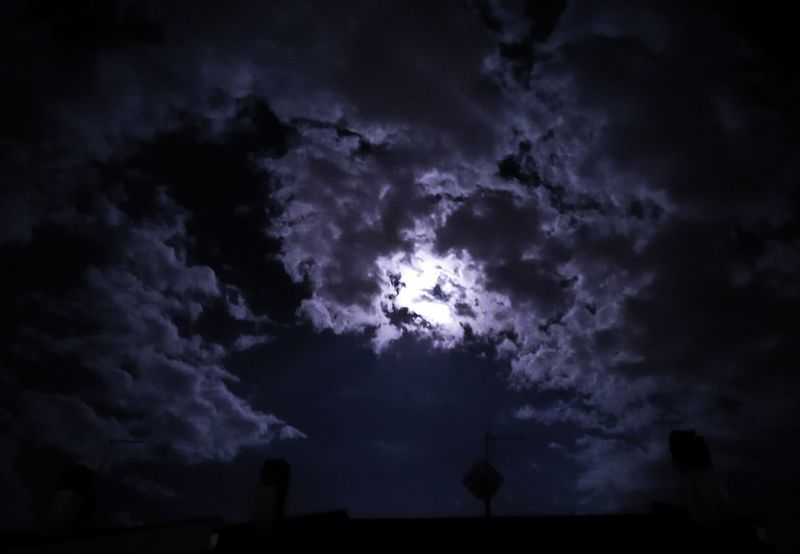 Low Angle View Tranquility Sky Tranquil Scene Scenics Cloud - Sky Beauty In Nature Nature Majestic Moon Sky Only Cloudscape Cloud Outdoors Dark Glowing Cloudy Dreamlike Atmospheric Mood Blue No People Landscape Canon6d Landscapephotography Canonphotographers