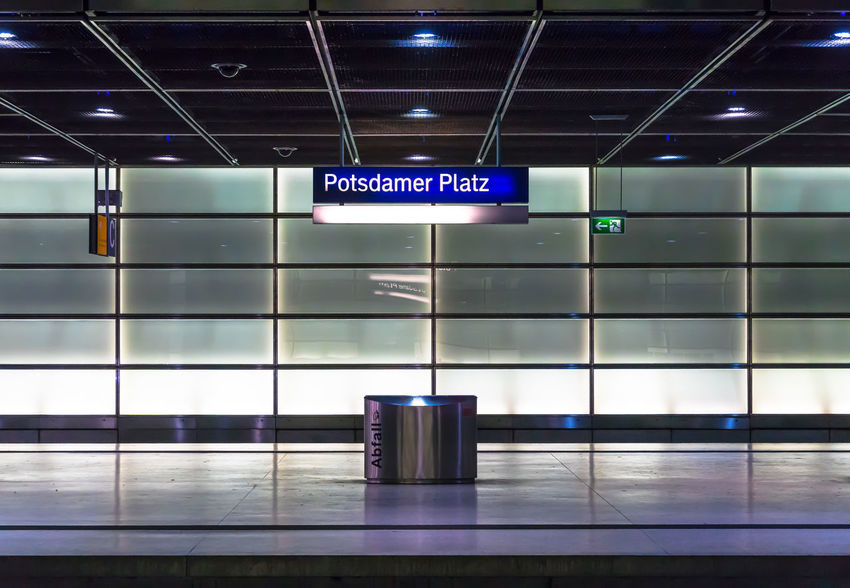 Architecture Arrival Departure Board Bahnhof Capital Cities  Day Electric Light Indoors  Information Sign Lighting Equipment No People Potsdamer Platz Railway Station Sign Station Text Tiled Floor Transportation Travel