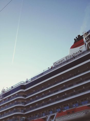 Queen Elizabeth  OSAKA Port Sea And Sky Ship