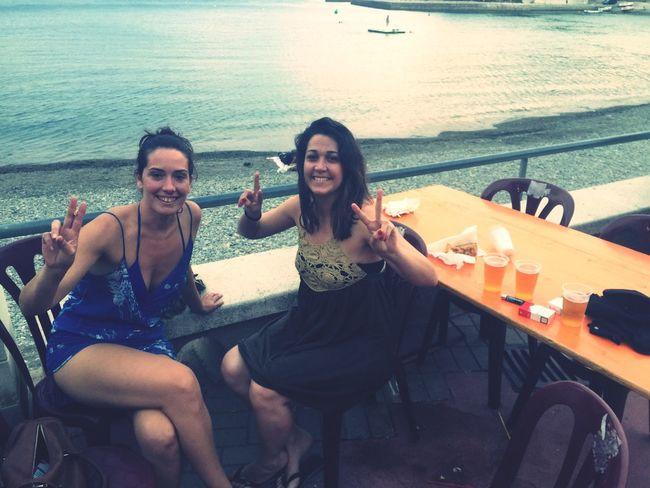Friends Cheers Sea Good Times Enjoying Life Enjoying The Sun