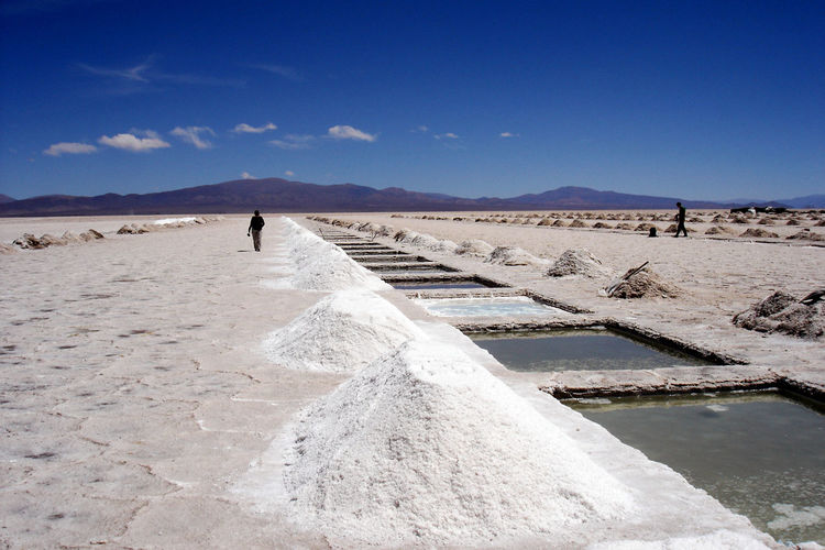 Salinas grandes in salta province, argentina