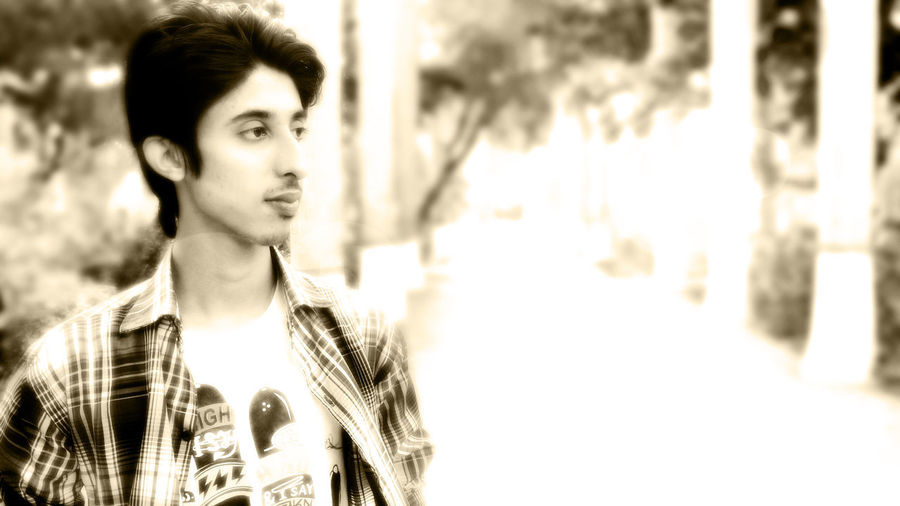 That's Me Blackandwhite @Sindh_Agriculture_University_Tando_Jam Nature Relaxed Atmosphere It is a Beautiful place around here :)