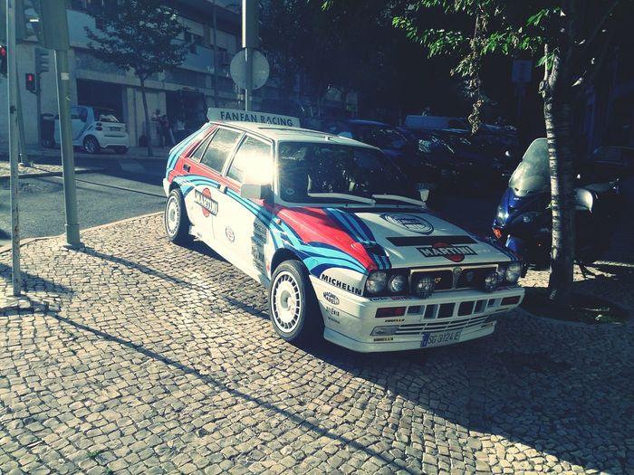 Lancia Delta Rallye Car Lisboa Lisbon Street Scene