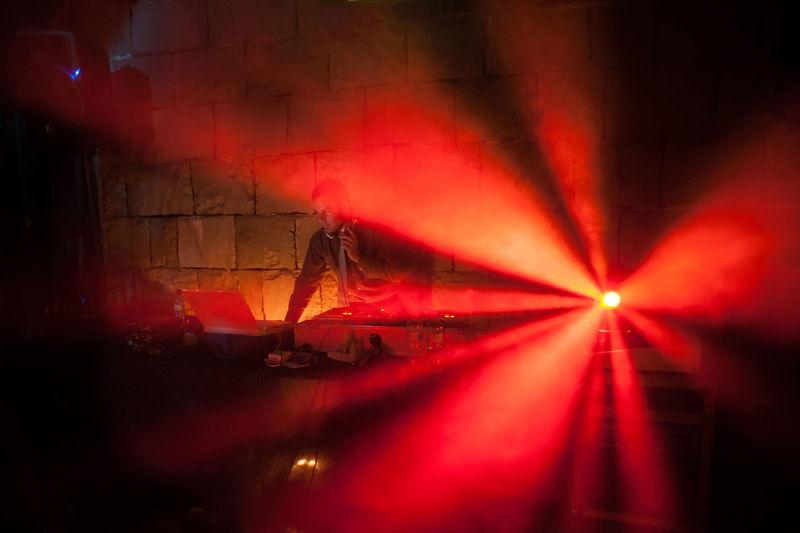 Red Light Dance Club Dark Disco Disco Club Discotheque Dj Glowing Illuminated Lighting Equipment Red Red Light Techno The Mix Up