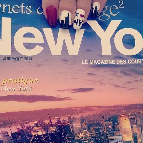New York nails ?❤ ?? ?? NYnails NewYorkNails Nailart  Newyork Americannails USnails USmagazine Nails