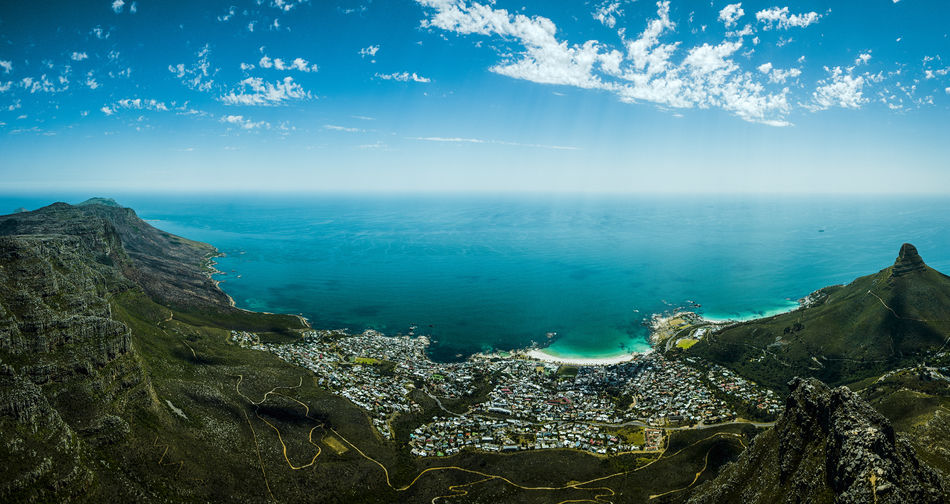 Lovely view over Campsbay Water Tranquility Tafelberg Tablemountain Sunset Summer Sky Signal Hill Sea Scenics Outdoors No People Nature Kapstadt Horizon Over Water Day Clouds And Sky Cloud - Sky Capetown South Africa Capetown Blue Sky Blue Beauty In Nature South Africa Cape Town
