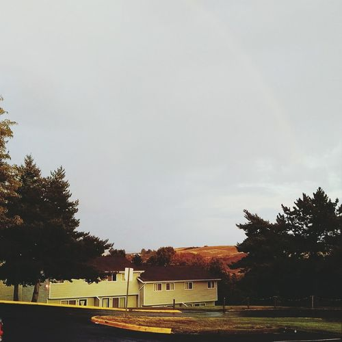 Rainbow Cloudy Afternoon Autumn Washington State Pullman Palouse