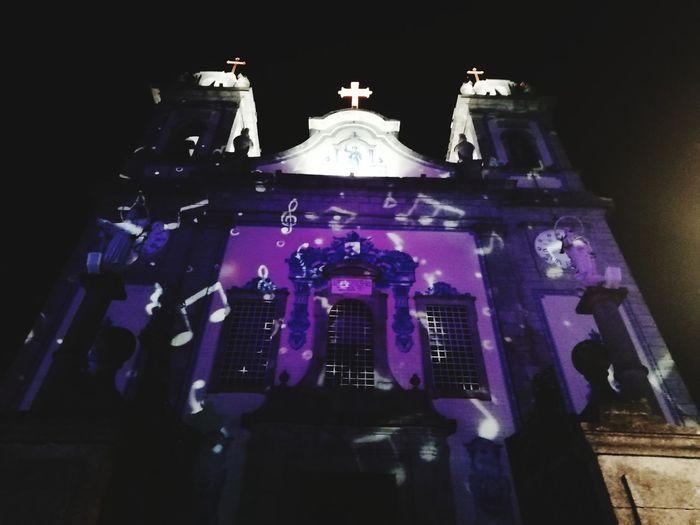 Igreja matriz Church Church Architecture Night Nightphotography Night Lights Valongo Portugal City Statue Illuminated Architecture Built Structure Close-up Historic HUAWEI Photo Award: After Dark