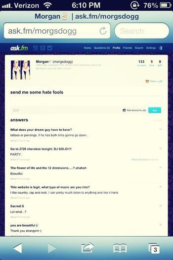 Ask me something!