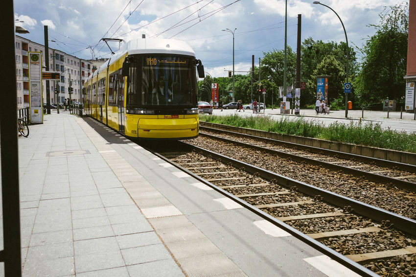 Berlin Capture Berlin City City Life City Street Day Deutschland Germany Mode Of Transport No People Outdoors Public Transportation Rail Transportation Railroad Track Station Train - Vehicle Tram Transportation Travel Yellow