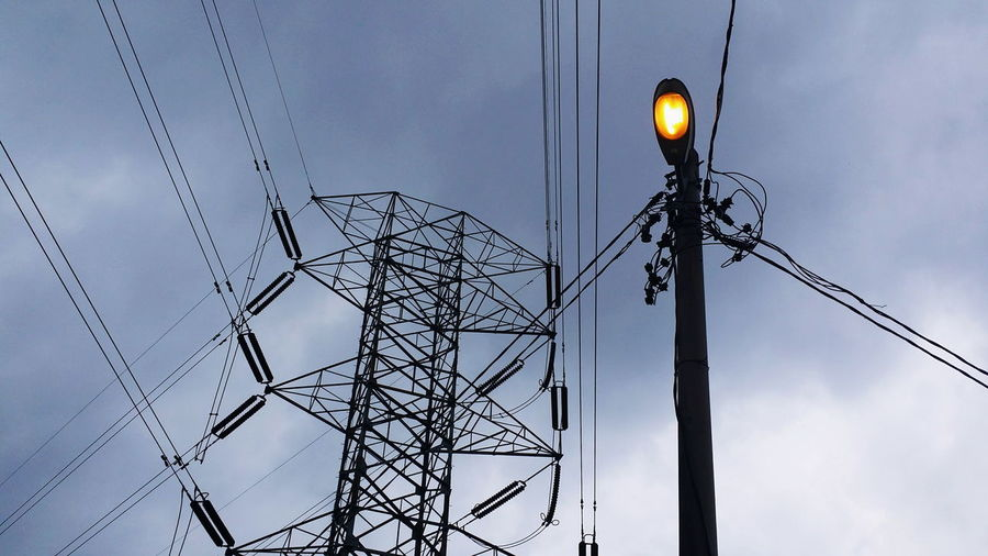 Electricity  Technology Silhouette Cable Fuel And Power Generation Business Finance And Industry Power Supply Electricity Pylon No People Outdoors Sky Day
