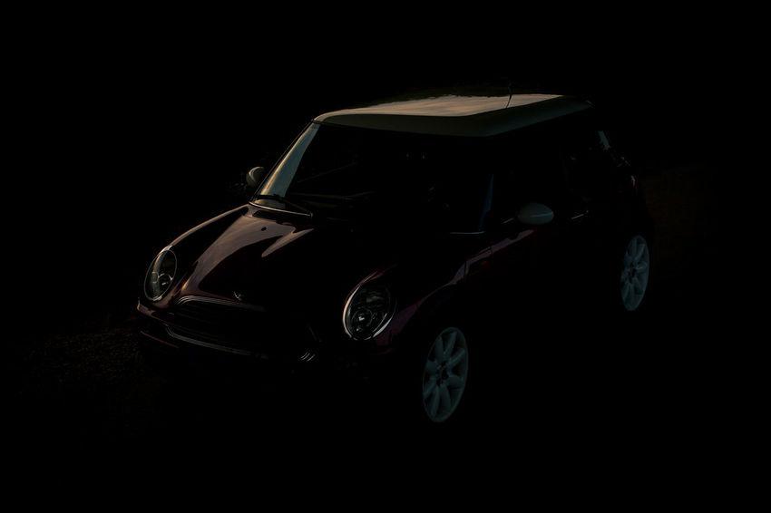 Mini Black Background Car Car Exterior Dark Dark Car Darkness And Light Lines Lines&Design Mini Cooper Mini Cooper Fan Mini Cooper S No People Red Red Cooper Reflection Shine Sunset