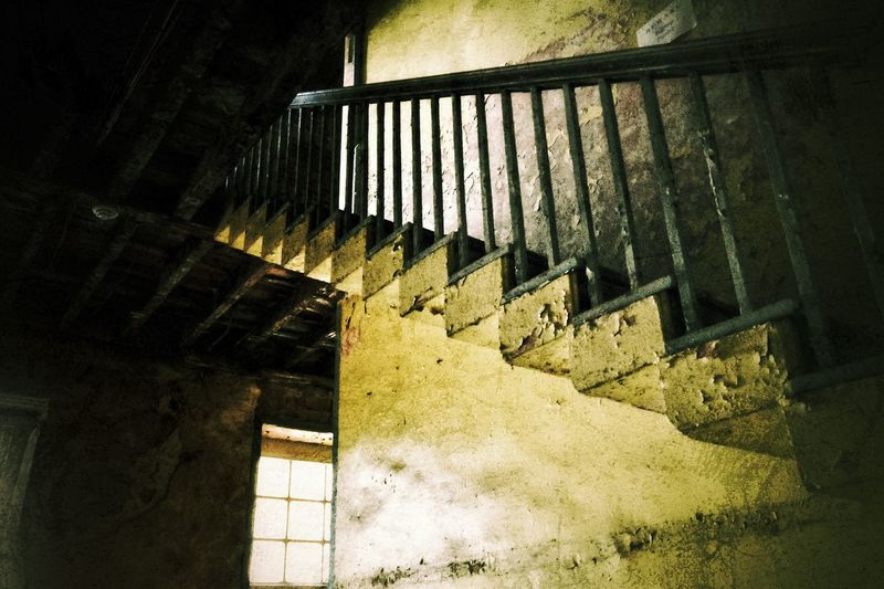 Stairwell Architecture Staircase Steps And Staircases Low Angle View Indoors  No People