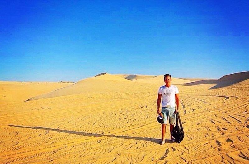Alone in the world in a desert in Vietnam.
