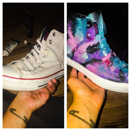 Before and After converse Converse Art Space Galactic Galaxy First Eyeem Photo