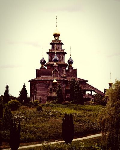 A part of Russia in Germany Russian Church Wood Construction Museum Gifhorn