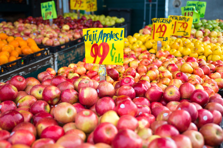 FRESH FRUITS ON MARKET STALLS FOR SALE