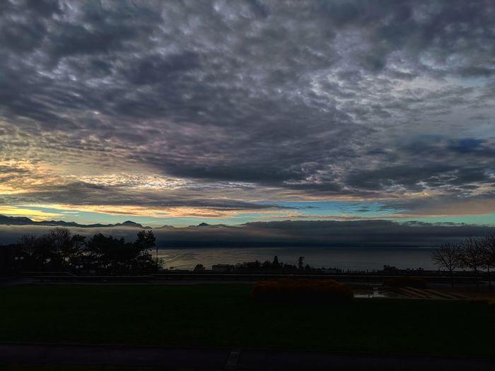 City Lake Mountain Morning Sunset Sunrise Astronomy Beach Reflection Dramatic Sky Romantic Sky Sunrise - Dawn Majestic Mountain Range Cloudscape Storm Cloud