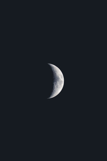 We all can relate to the moon. Astronomy Beauty In Nature Black Background Crescent Half Moon Moon Moon Surface Natural Phenomenon Nature Night No People Outdoors Planetary Moon Scenics Sky Solar Eclipse Space Space Exploration