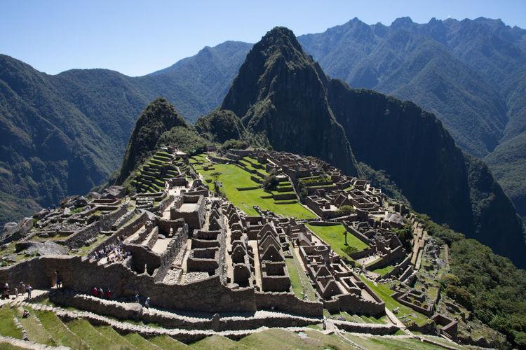 High Angle View Of Machu Picchu