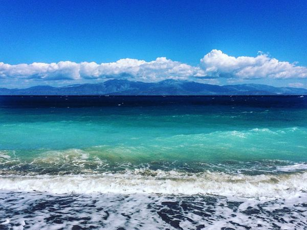 Blue EyeEm Gallery Sky Water Cloud - Sky Scenics - Nature Beauty In Nature Sea Nature Blue Beach Outdoors Travel Destinations Travel Tourism